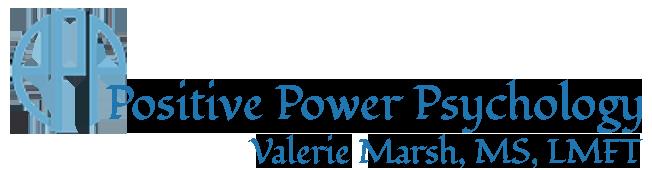 Positive Power Psychology logo | Valerie Marsh | Online Therapy & Coaching | Minnesota & Iowa